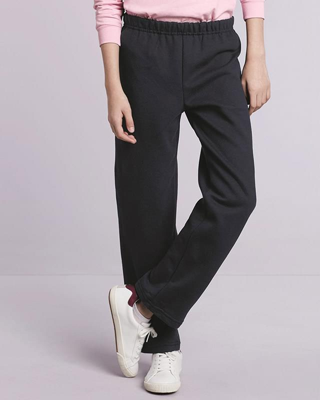 Heavy Blend™ Youth Open-Bottom Sweatpants